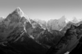 Himalaya Mountains Black and White - PhotoDune Item for Sale