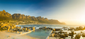 Sunset Panorama Of Camps Bay In South Africa