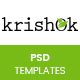 Krishok - Organic Food, Fruit and Vegetables Products PSD Template