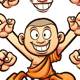 Cartoon Monk - GraphicRiver Item for Sale