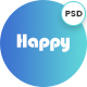 Happy App Landing Page PSD Template - ThemeForest Item for Sale