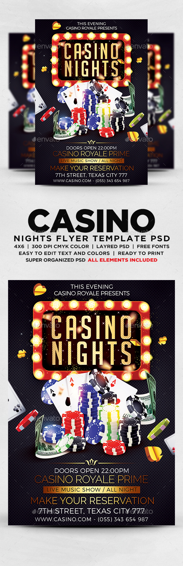 GraphicRiver Casino Nights Flyer 20374102