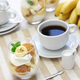 homemade banana pudding and a cup of coffee, Southern dessert - PhotoDune Item for Sale