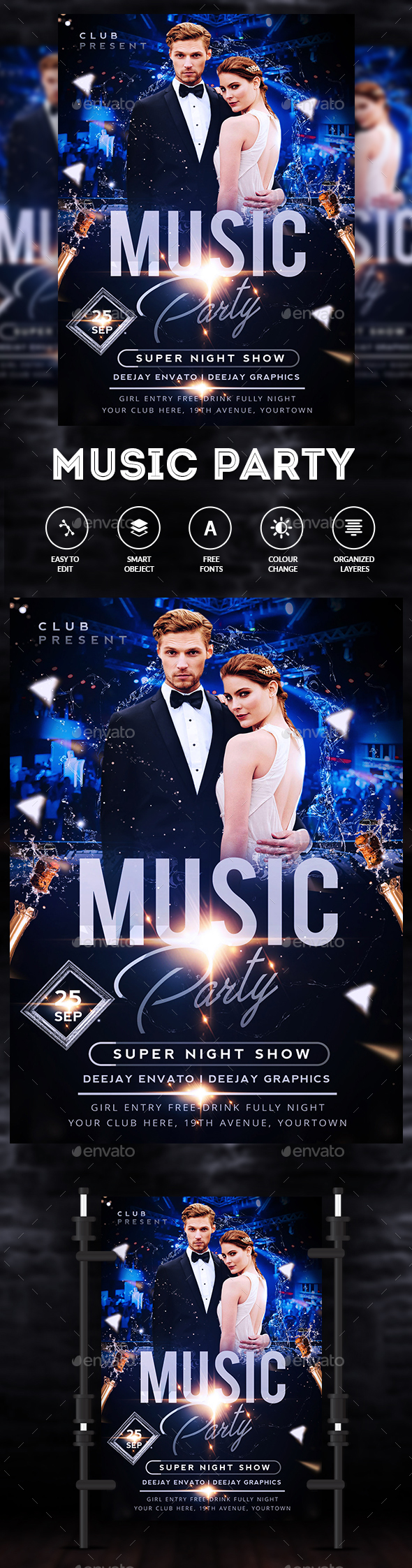 City Music Party Flyer - Clubs & Parties Events