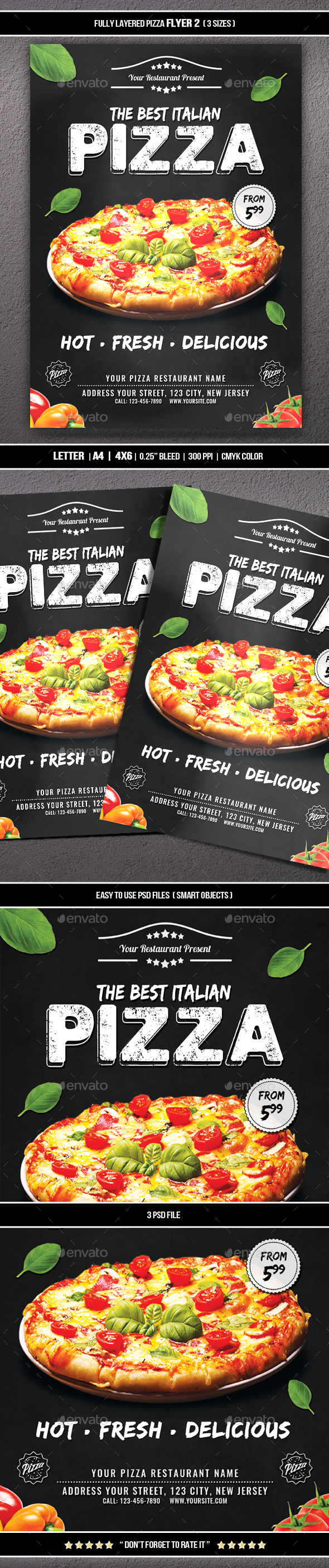 GraphicRiver Pizza Flyer 2 20374337