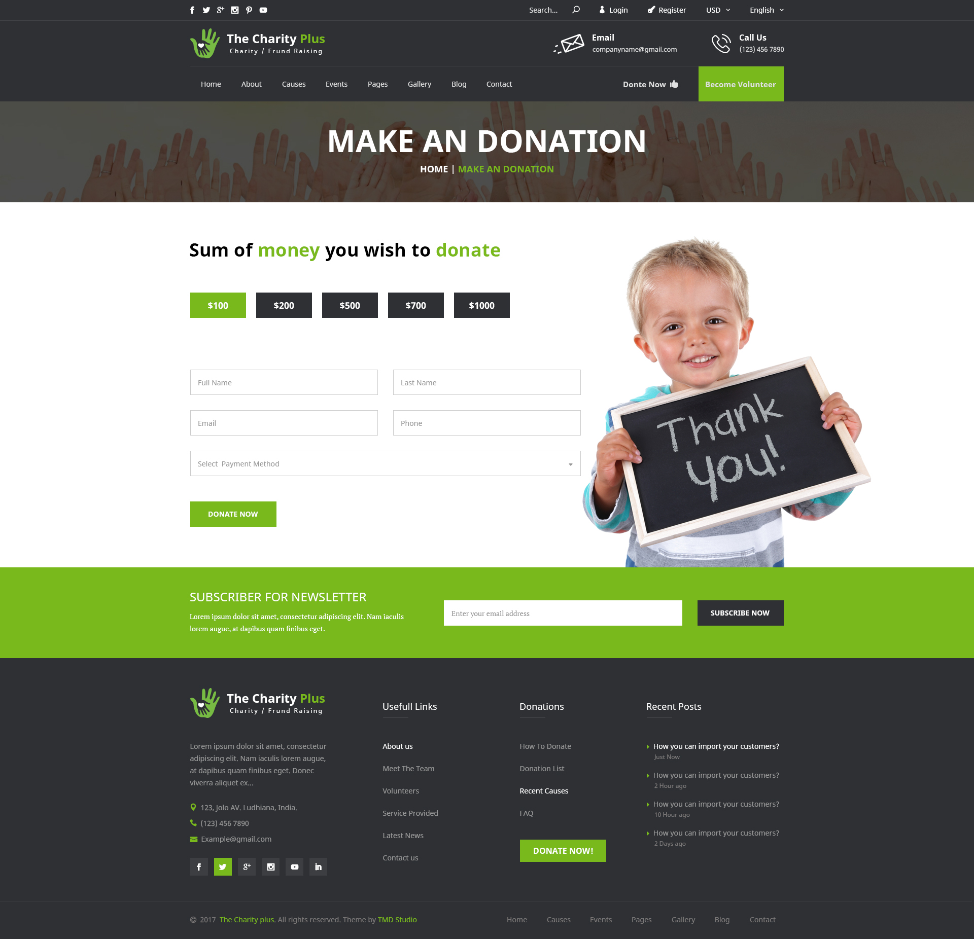 Charity - The Charity Plus HTML Template by TmdStudio | ThemeForest