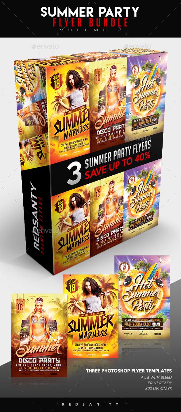 Summer Party Flyer Bundle Vol.2