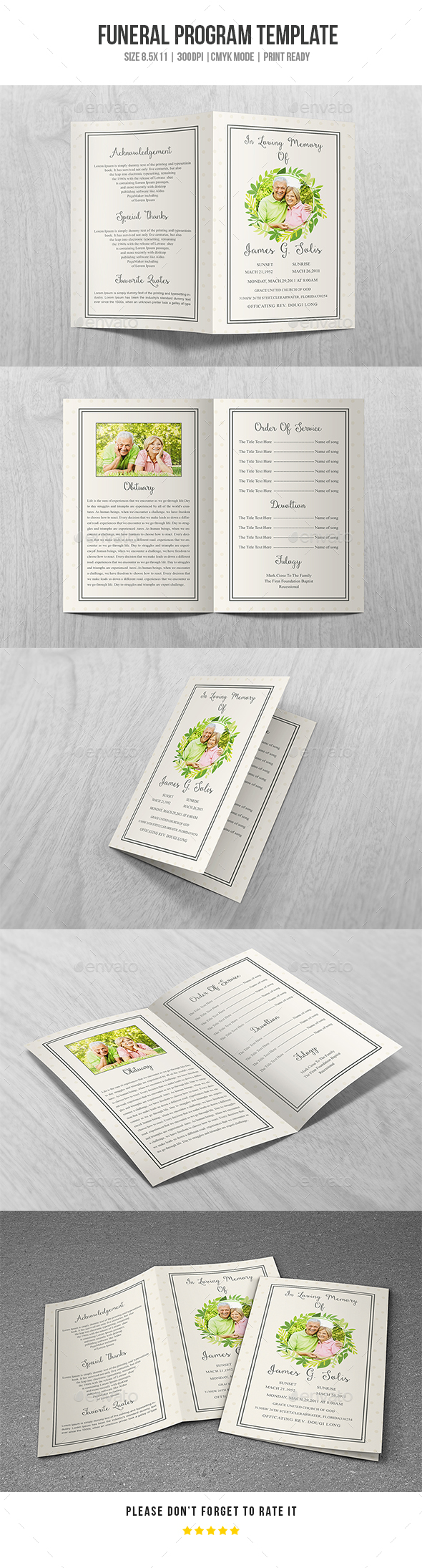 GraphicRiver Funeral Program Template Vol 37 20374687