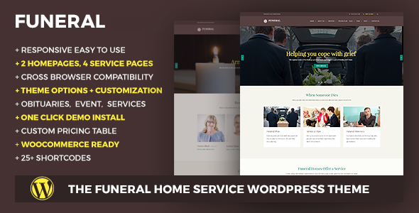Funeral Service Responsive WordPress Theme - Business Corporate