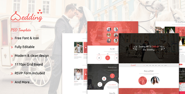 The Wedding - Bootstrap Responsive PSD Template