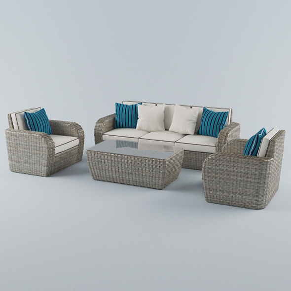 Vray Ready Modern Sofa Set - 3DOcean Item for Sale