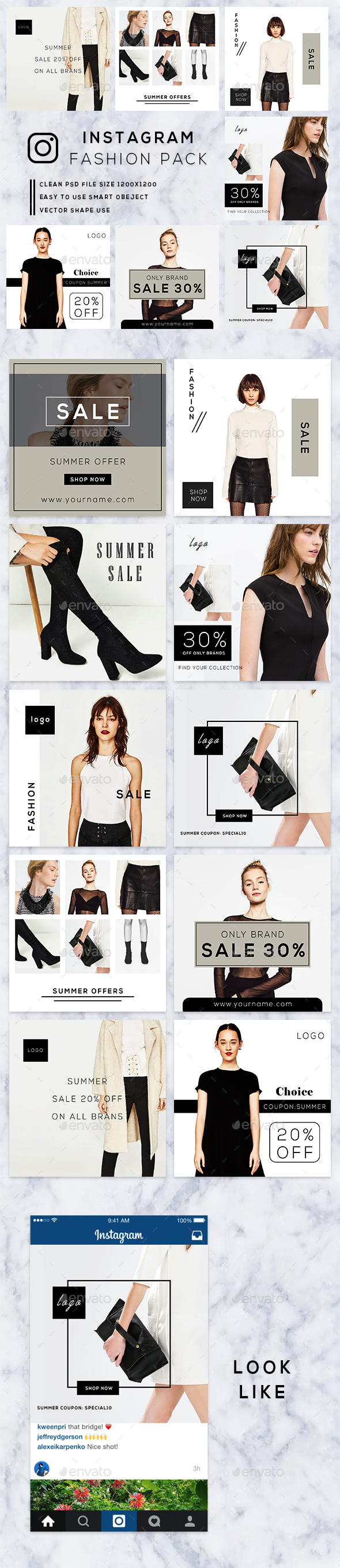 GraphicRiver Fashion Instagram Banners 20374980