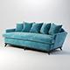 Vray Ready Modern Blue Fabric Sofa