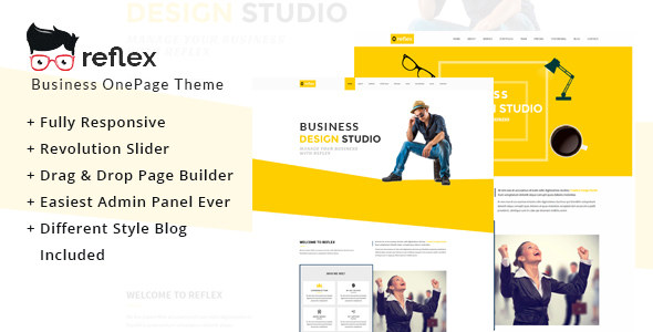 Reflex One Page WordPress Theme