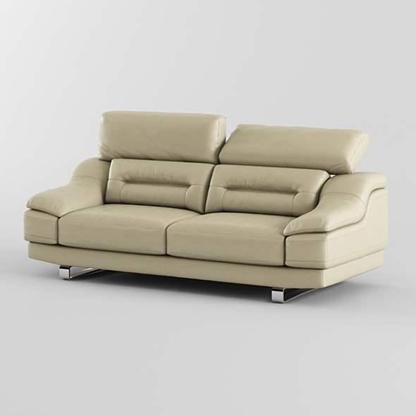 Vray Ready Modern Leather Sofa - 3DOcean Item for Sale