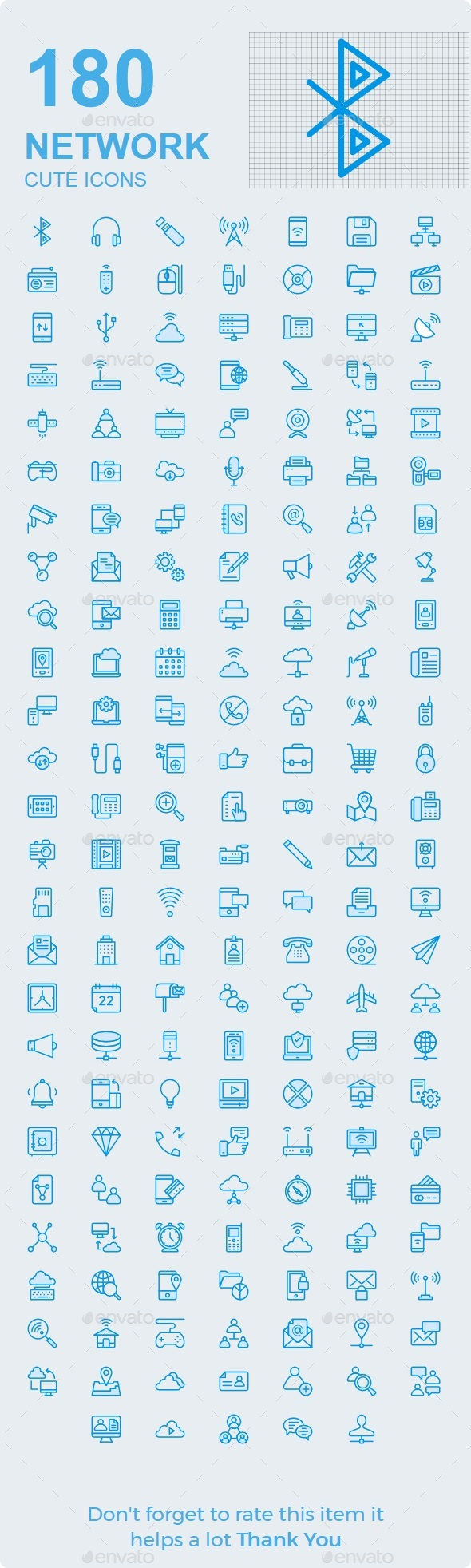 GraphicRiver Network & Communication Cute icons 20375192