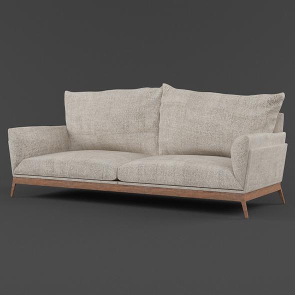 Vray Ready Modern Luxury Sofa - 3DOcean Item for Sale