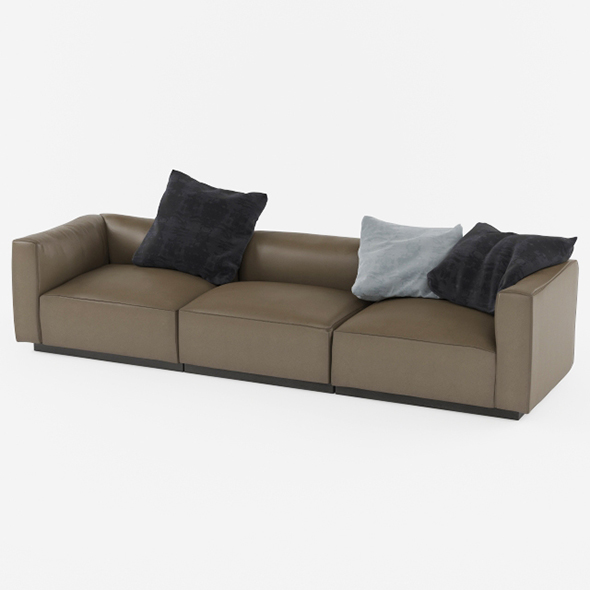 Vray Ready Luxury Leather Sofa - 3DOcean Item for Sale