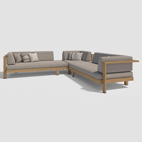 3DOcean Vray Ready Luxury Sofa Set 20375425