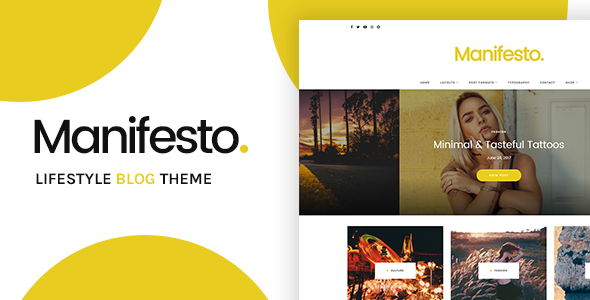 Manifesto - Lifestyle Blog WordPress Theme