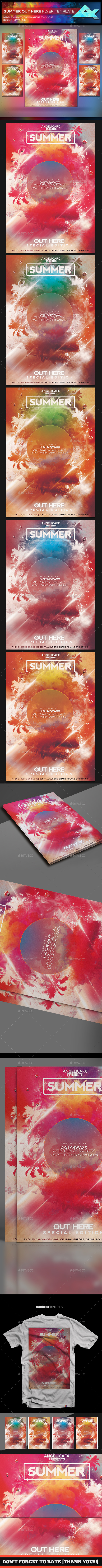 GraphicRiver Summer Out Here Flyer Template 20375497