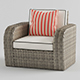 Vray Ready Luxury Modern ArmChair