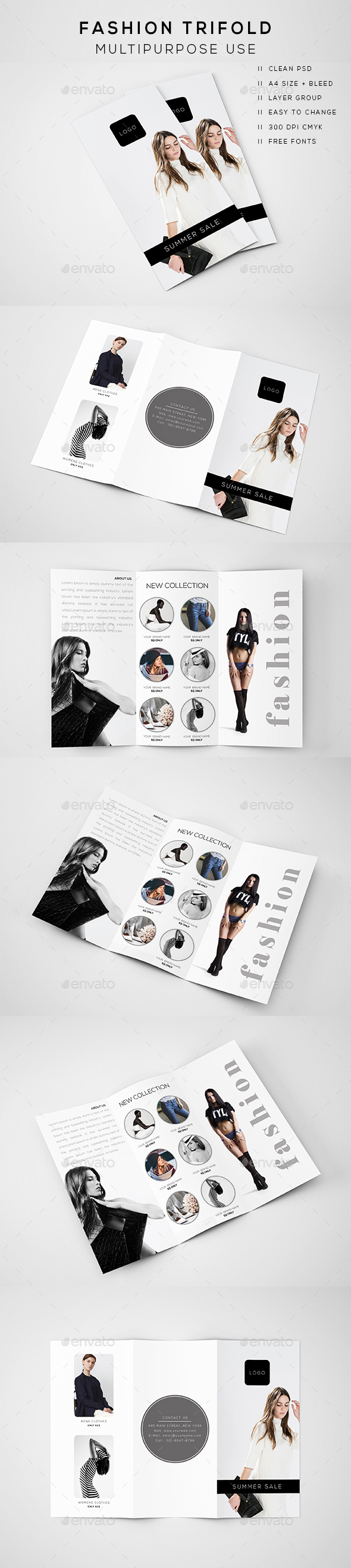 Fashion Trifold Brochure - Brochures Print Templates