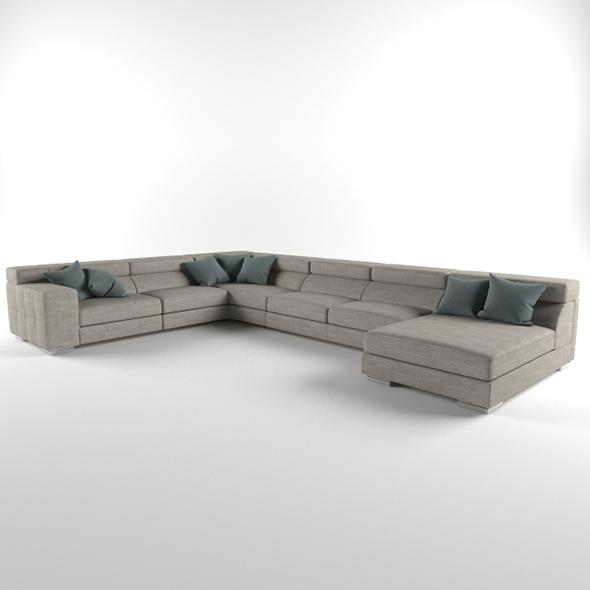 Vray Ready Luxury Modern Sofa Set - 3DOcean Item for Sale