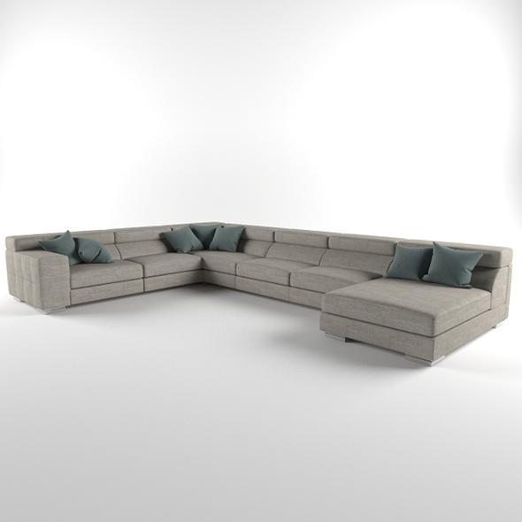 3DOcean Vray Ready Luxury Modern Sofa Set 20375625