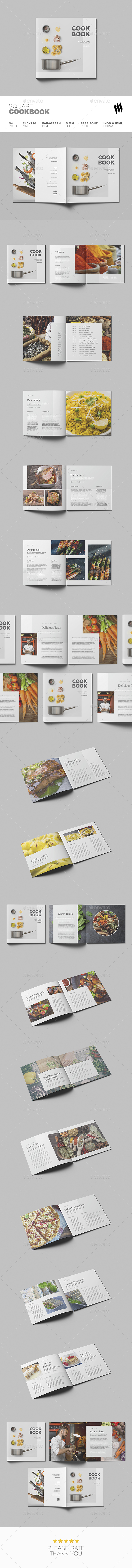 Square Cookbook - Brochures Print Templates