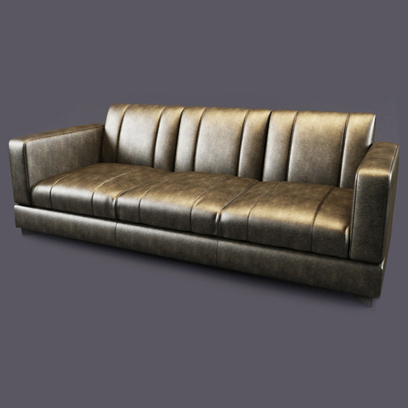 3DOcean Vray Ready Luxury Modern Leather Sofa 20375676