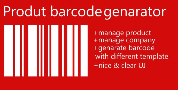 Product labelbarcode generator by kodauthor – Product Label Template
