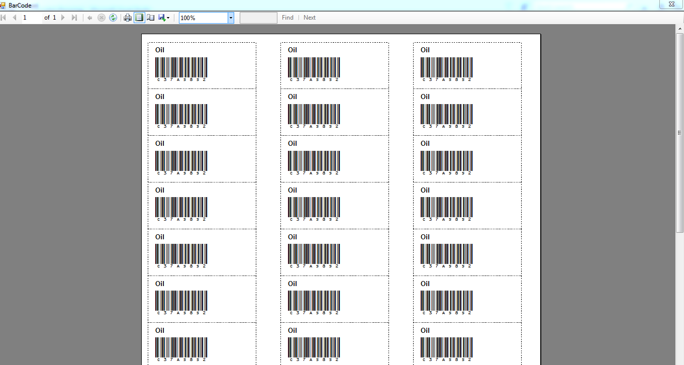 Product label/barcode generator