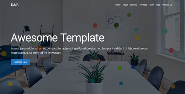 ThemeForest Elma Onepage Template 20228457