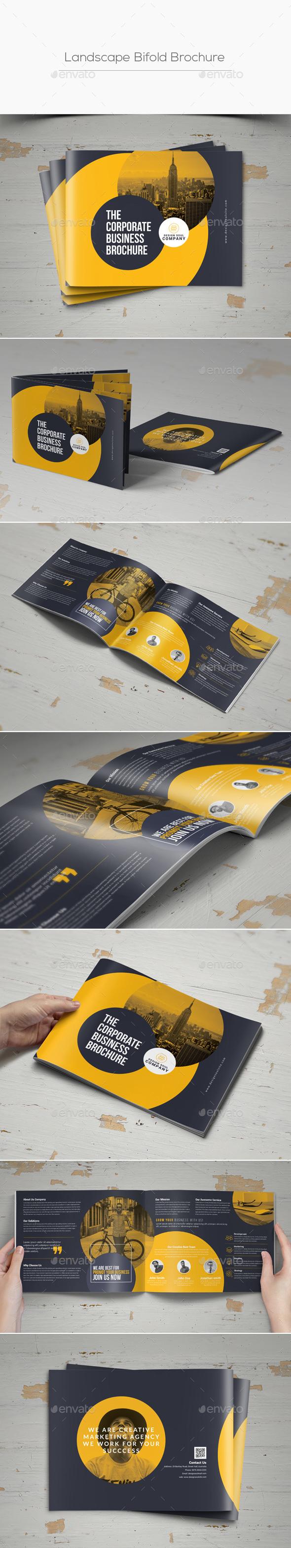 Landscape Bifold Brochure - Corporate Brochures