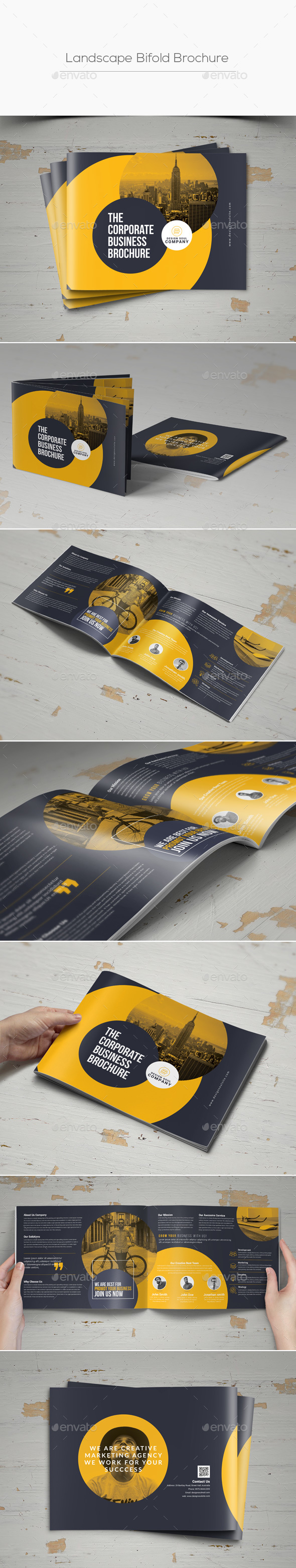 GraphicRiver Landscape Bifold Brochure 20375821