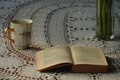 book and and a cup of coffee in the afternoon light - PhotoDune Item for Sale