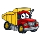 Dump Truck Cartoon Character