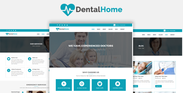 DentalHome - Health, Medical and Dentist HTML5 Template - Retail Site Templates