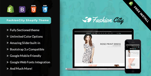 ThemeForest Fashion City Shopify Responsive Sectioned Theme 20375921