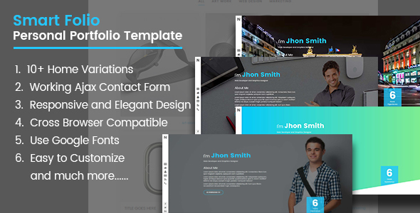 ThemeForest Smart Folio HTML5 Portfolio Template 20284334