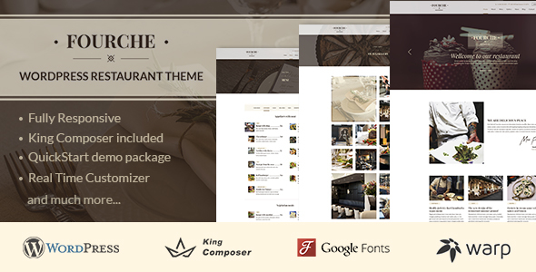 Fourche — Restaurant & Cafe WordPress Theme