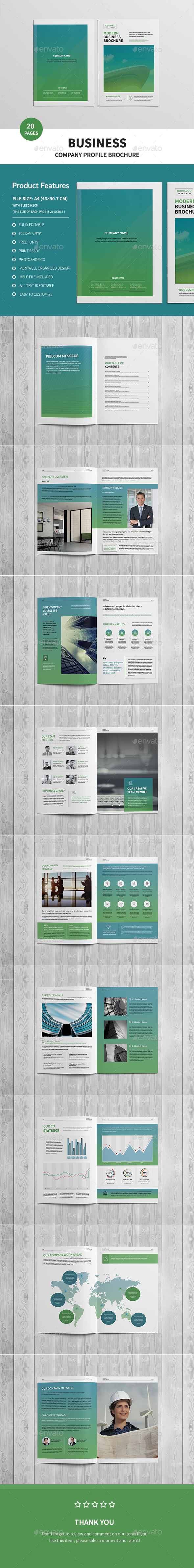 GraphicRiver Corporate Business Brochure 20376062
