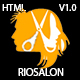 RioSalon - Beauty Salon & Barber HTML5 Template - ThemeForest Item for Sale