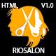 RioSalon - Beauty Salon & Barber HTML5 Template Nulled