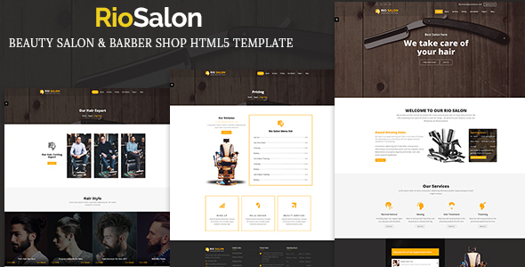 RioSalon - Beauty Salon & Barber HTML5 Template