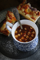 Minestrone Soup with Focaccia Bread - PhotoDune Item for Sale