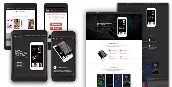 AppLand - Responsive App Template - Software Technology