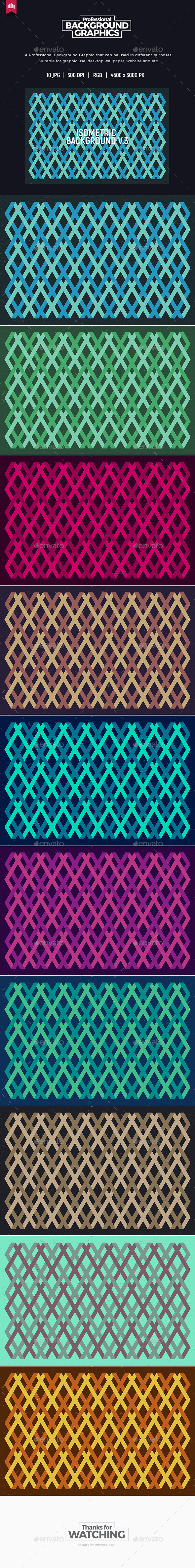 Isometric Background V.3 - Abstract Backgrounds