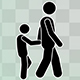 Stick Figure Child And Adult - VideoHive Item for Sale